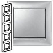 Рамка - Valena - 5 постов - вертикальный монтаж - алюминий