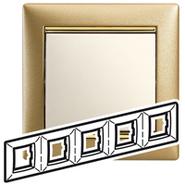 Рамка - Valena - 5 постов - матовое золото